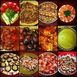 bday collage food