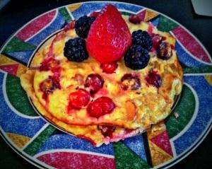 banana cranberry pancakes