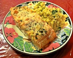 salmon with cauliflower